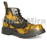 Boty Steel 6-ti dírkové, yellow