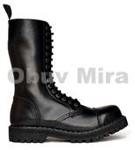 Boty Steel 15-ti dírkové, black
