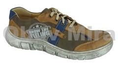 Dámská obuv Kacper 2-0554 BROWN-NAVY-BLUE