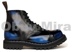 Boty Steel 6-ti dírkové, blue