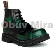 Boty Steel 6-ti dírkové, green
